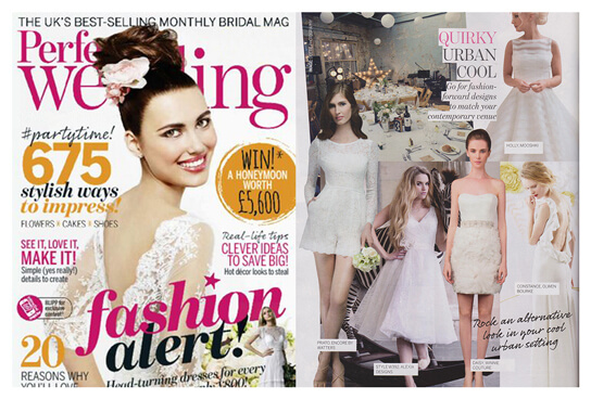 PERFECT WEDDING UK magazine featured Winnie Couture style Daisy.