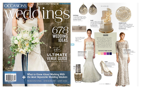 OCCASIONS WEDDINGS magazine featured Winnie Couture style Marjorie