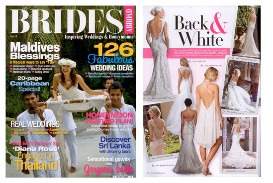 BRIDES ABROAD magazine featured WINNIE COUTURE style Jewel.