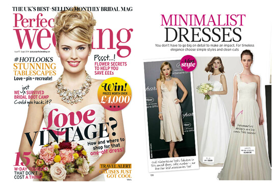 PERFECT WEDDING UK magazine featured WINNIE COUTURE style Haley
