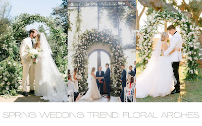 Spring Wedding Trend: Floral Arches